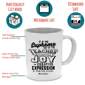 Funny Unique Teacher Coffee Mug - Cute Graduation, Appreciation or Retirement Gift - Printed on Both Sides! - Stir Crazy Gifts