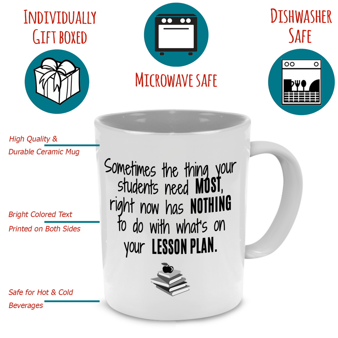 Fun, Cute, Unique Retirement Math Teacher Gifts Coffee Mug - Printed on Both Sides
