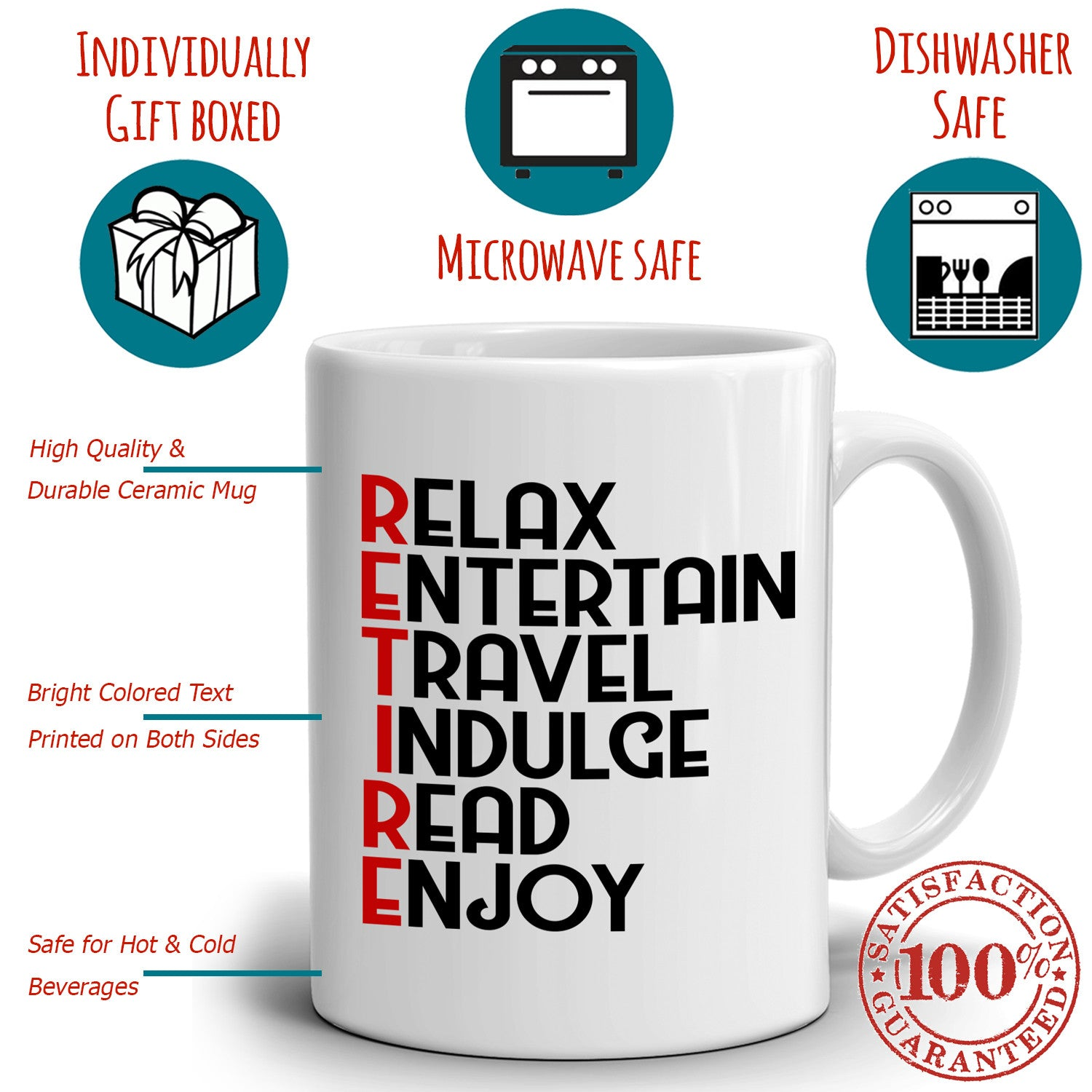 Retirement Gifts for Coworker Coffee Mug Funny Retired Gag Gift Printed on Both Sides!  sc 1 st  Stir Crazy Gifts & Retirement Gifts for Coworker Coffee Mug Funny Retired Gag Gift ...