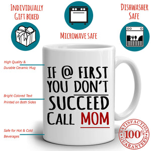 Funny Daughters Gift for Mom Coffee Mug this Mothers Day and Mama Birthday, Perfect Presents for Mother in Law and Grandmother