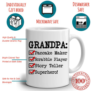 Personalized! Grandpa Coffee Mug, Perfect Gifts for Papa Dad Birthday and Fathers Day, Printed on Both Sides! …