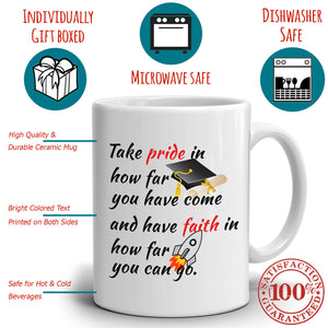 Inspirational PHD College of Law Graduation Gift Coffee Mug, Printed on Both Sides!