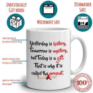 College and High School Grad Inspiration Graduation Gift for Men and Women, His and Her Coffee Mug, Printed on Both Sides! - Stir Crazy Gifts