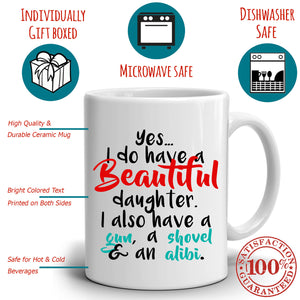 Dads Birthday Gift for Daughter Perfect Fathers Day Gifts Coffee Mug, Printed on Both Sides! - Stir Crazy Gifts