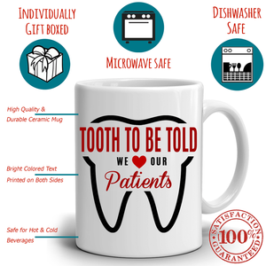 Fun Dentist Office Coffee Mug - A Cool Unique Gift for Anyone in the Dental Profession, 100% Microwave and Diswasher Safe - Stir Crazy Gifts