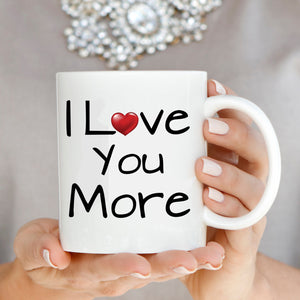 Funny Romantic Couples Gift Coffee Mug, Wedding Anniversary Valentines Day Present - Printed on Both Sides - Stir Crazy Gifts