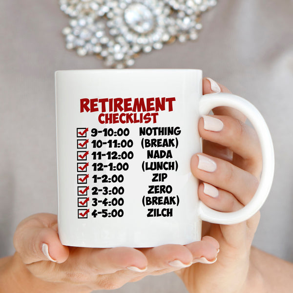 Wedding Gift Ideas For Coworker: Funny Retirement Gift Checklist Coffee Mug, Perfect Humor