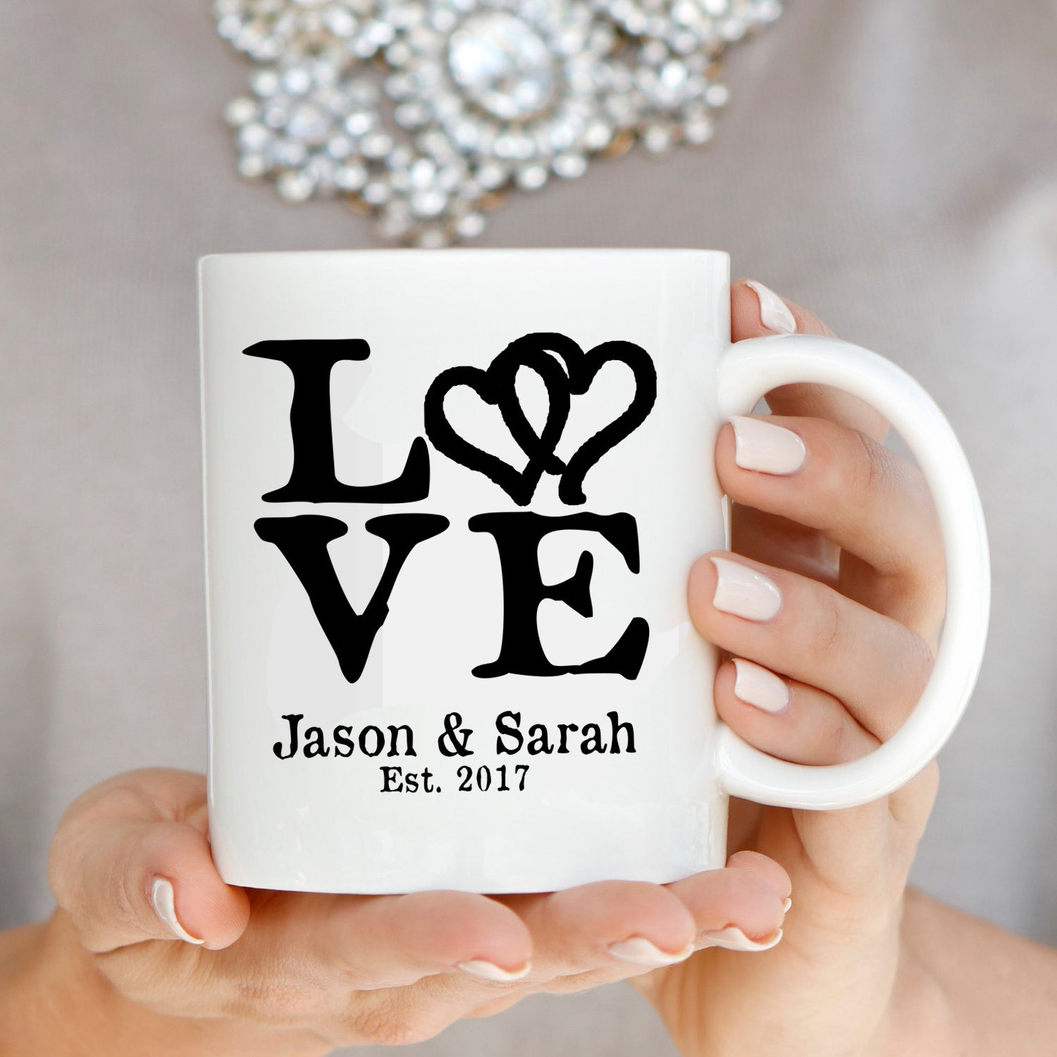 Perfect Wedding Anniversary Gift For Husband: Personalized Romantic Love Husband And Wife Names Gift