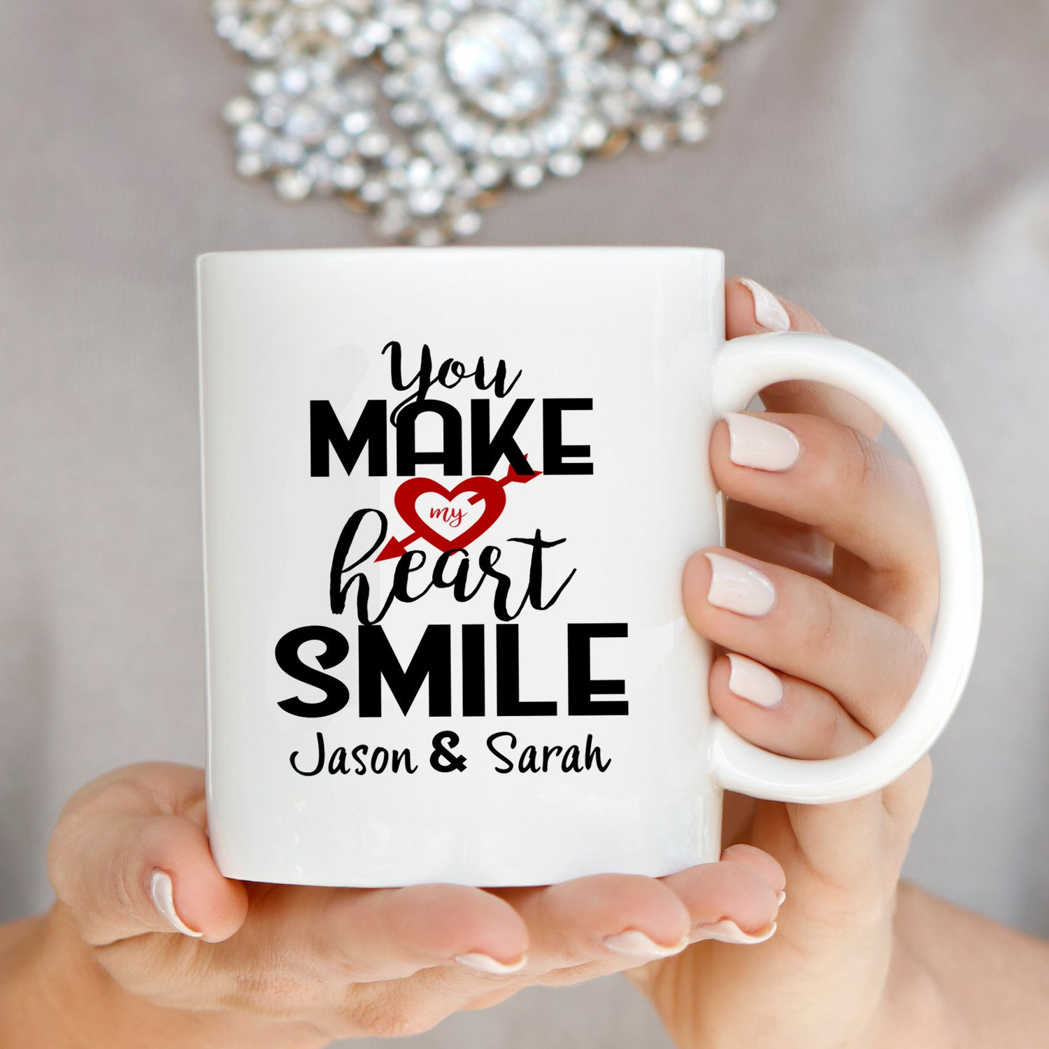 Personalized! Wedding Anniversary Gifts for Couples Coffee Mug ...