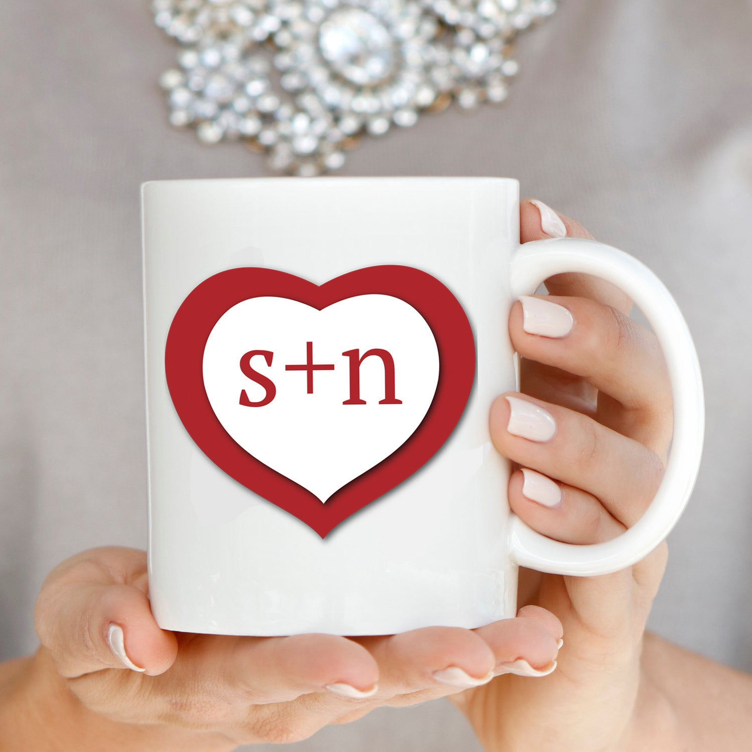 Perfect Wedding Anniversary Gift For Husband: Personalized! Romantic Couples Love Coffee Mug, Perfect