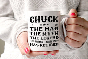 Personalized The Man The Myth The Legend Has Retired Gift Mug