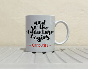 Funny College Graduation Gift for Men and Women Graduate Coffee Mug, Printed on Both Sides! - Stir Crazy Gifts