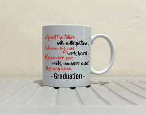 Inspirational College Graduation Quotes Gift 2017 Coffee Mug for Her, Printed on Both Sides! - Stir Crazy Gifts