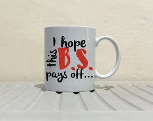 Funny PHD College Graduation Gifts for Her, Unique Law School Nurse Teacher Grad Gift Coffee Mug, Printed on Both Side! - Stir Crazy Gifts