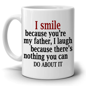 Best Father Papa Dad Gifts from Daughter Coffee Mug, Printed on Both Sides! - Stir Crazy Gifts