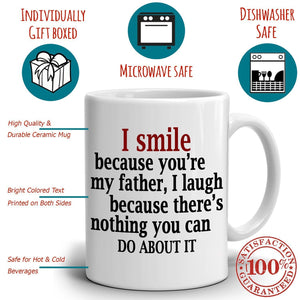 Best Father Papa Dad Gifts from Daughter Coffee Mug, Printed on Both Sides!