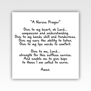 A Nurses Prayer Canvas Wraps - Stir Crazy Gifts