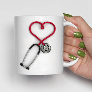 Caffeine PO Q4H PRN, Funny Nurse Stethoscope Coffee Mug, Printed on Both Sides!