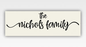 Personalized!! Family Name Gifts Canvas Wrap Wall Art Decor Print Gift