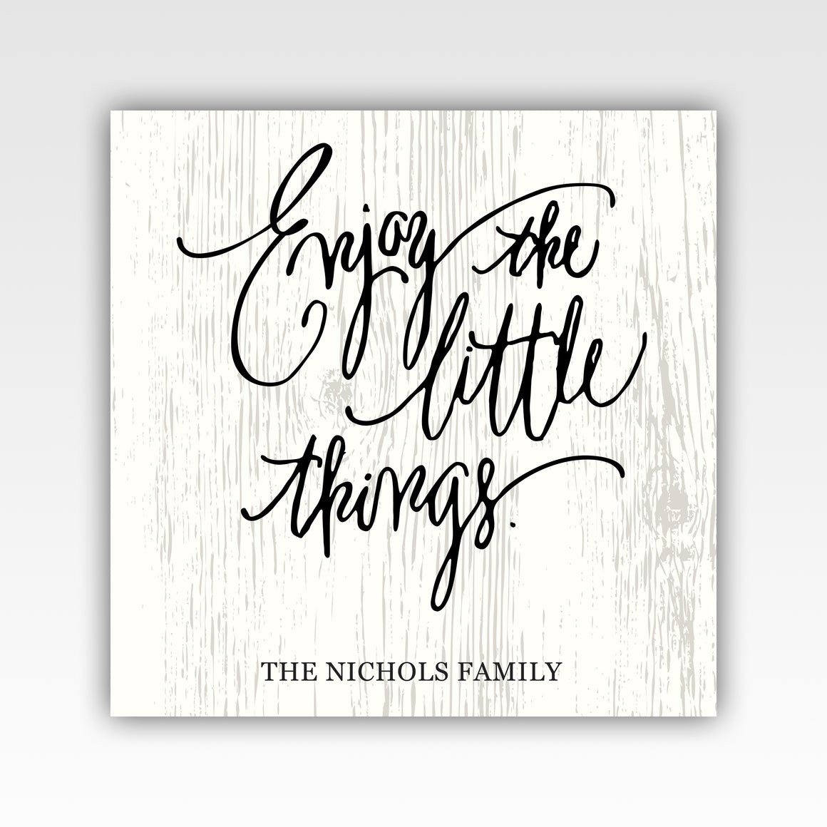 Personalized!! Enjoy The Little Things Family Gifts Canvas Wrap, Home Decor Painting Wall Art