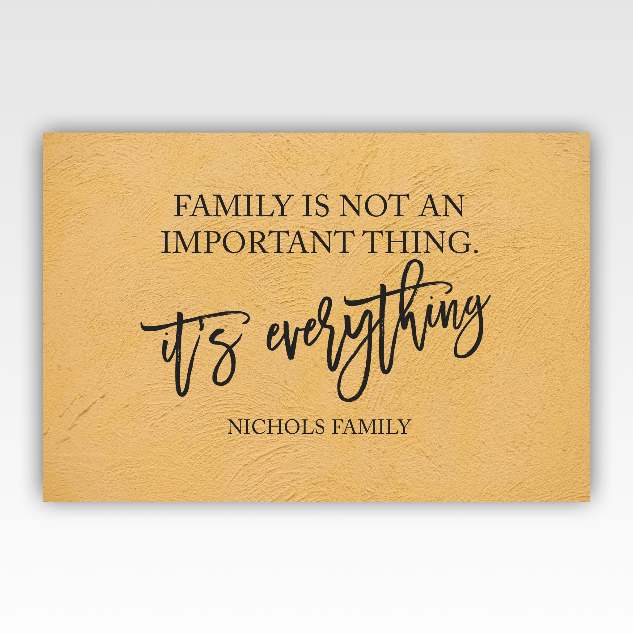 Personalized! Family Is Not An Important Thing It\'s Everything, Wall ...