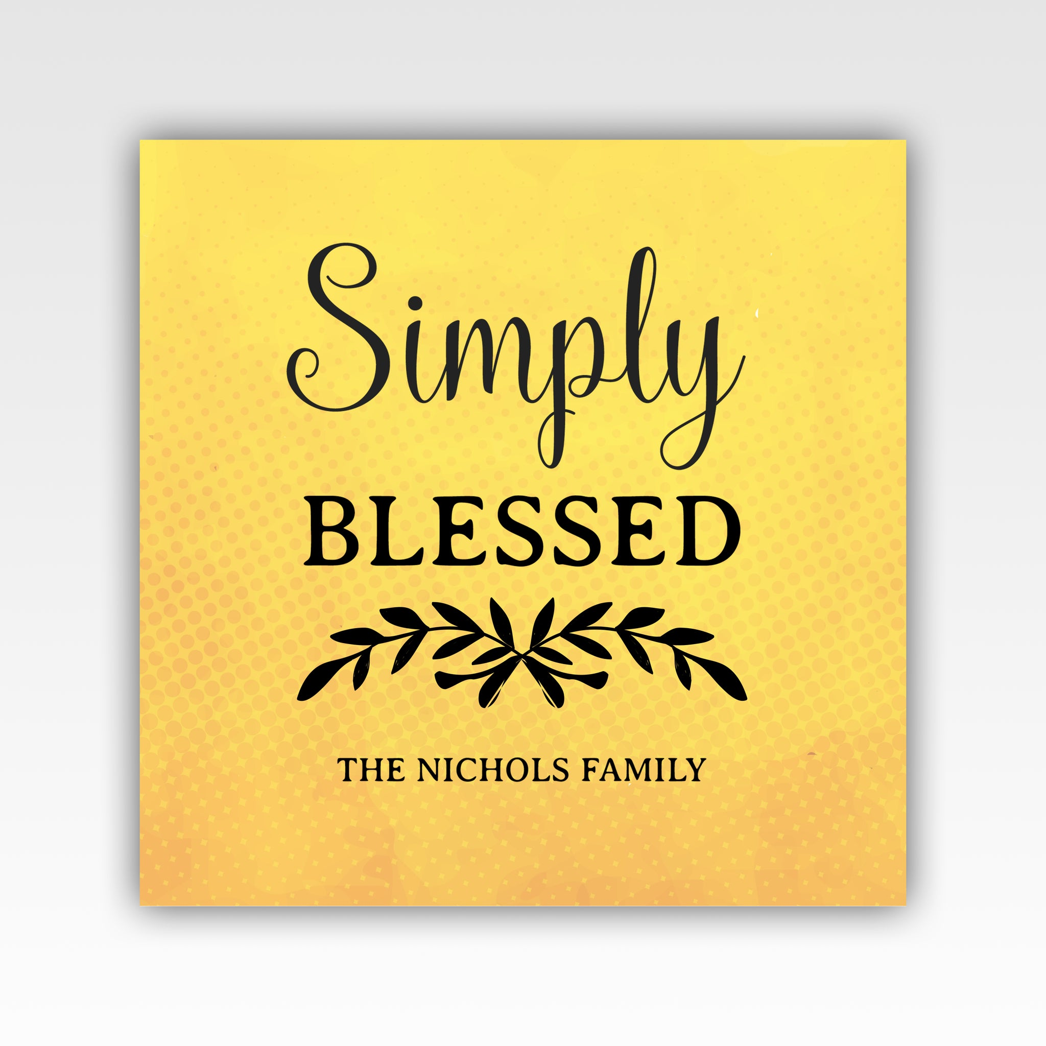 Personalized!! Simply Blessed, Family Gifts Home Decor Wall Art ...