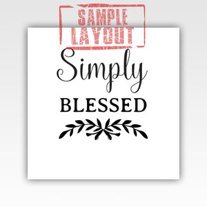 Personalized!! Simply Blessed, Family Gifts Home Decor Wall Art Canvas Wraps