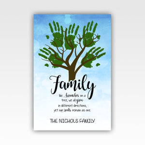 Personalized!! Family Tree Home Decor Gifts, Wall Art Canvas Wrap Print