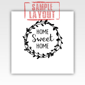 Personalized!! Home Sweet Home Cute Family Canvas Wrap Wall Art Print Gifts