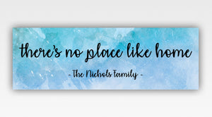 Personalized!! There's No Place Like Home Family Canvas Warp Wall Art Gifts