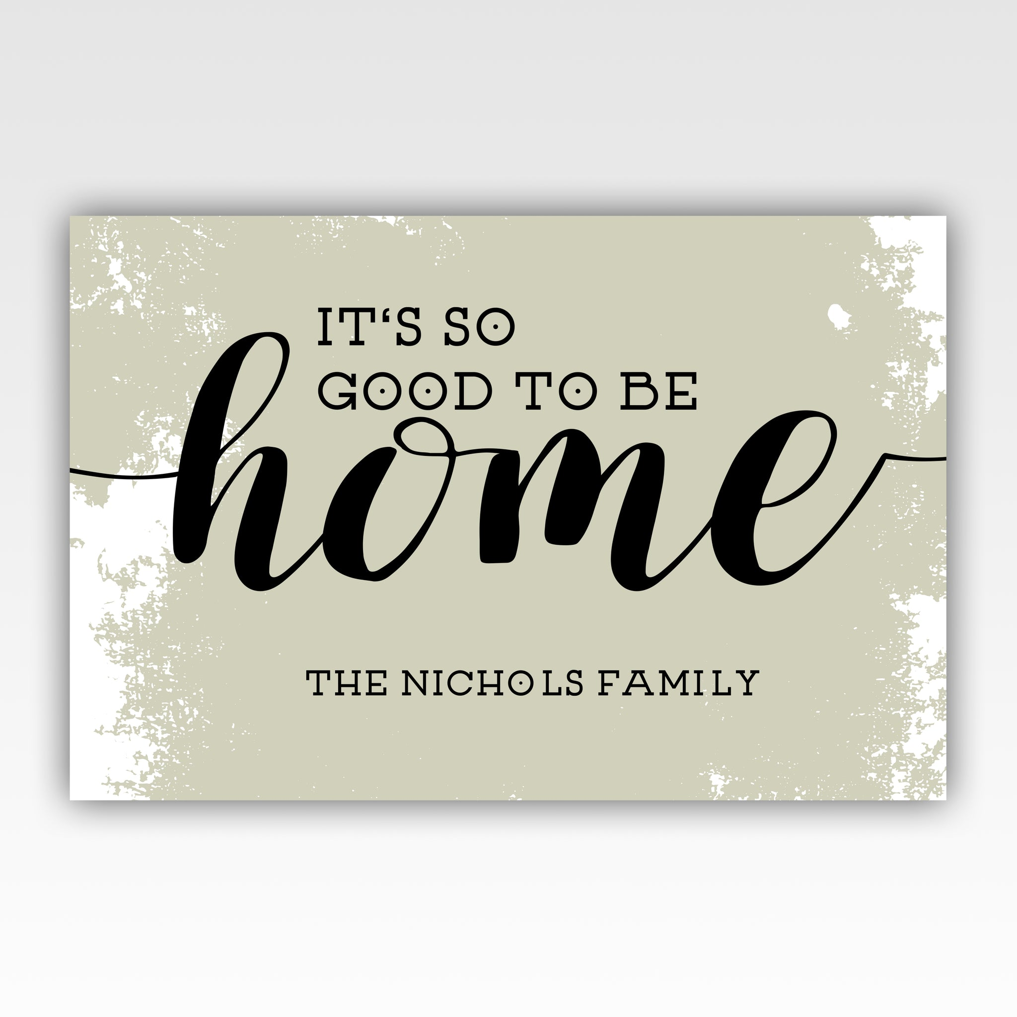 Personalized!! Itu0027s So Good To Be Home Canvas Wrap Wall Art Gifts For Family