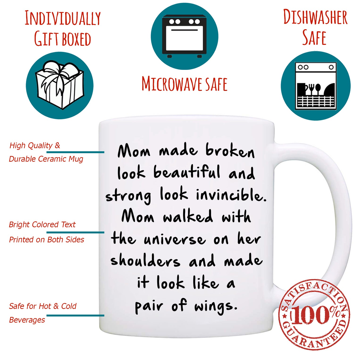 Perfect Gift For Mom From Daughter Coffee Mug Unique Presents For Mot Stir Crazy Gifts