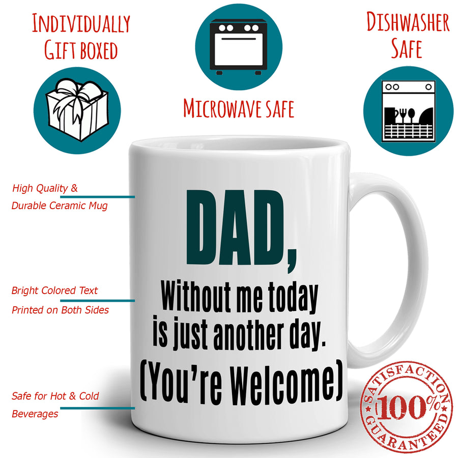 Funny Cool Dad Grandpa Birthday Gifts Mug, Printed on Both Sides!