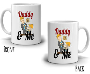 Best Fathers and Son Gifts Mug Daddy and Me Coffee Cup, Printed on Both Sides! - Stir Crazy Gifts