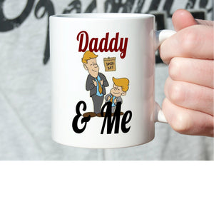 Best Fathers and Son Gifts Mug Daddy and Me Coffee Cup, Printed on Both Sides!