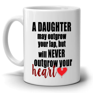 Inspirational Daughters Gifts for Dad Coffee Mug, Printed on Both Sides!