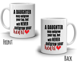 Inspirational Daughters Gifts for Dad Coffee Mug, Printed on Both Sides! - Stir Crazy Gifts