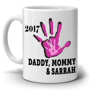 Personalized! Fathers Day and Mothers Day Gifts From Daughter Gifts Mug Daddy Mommy and Me, Printed on Both Sides!