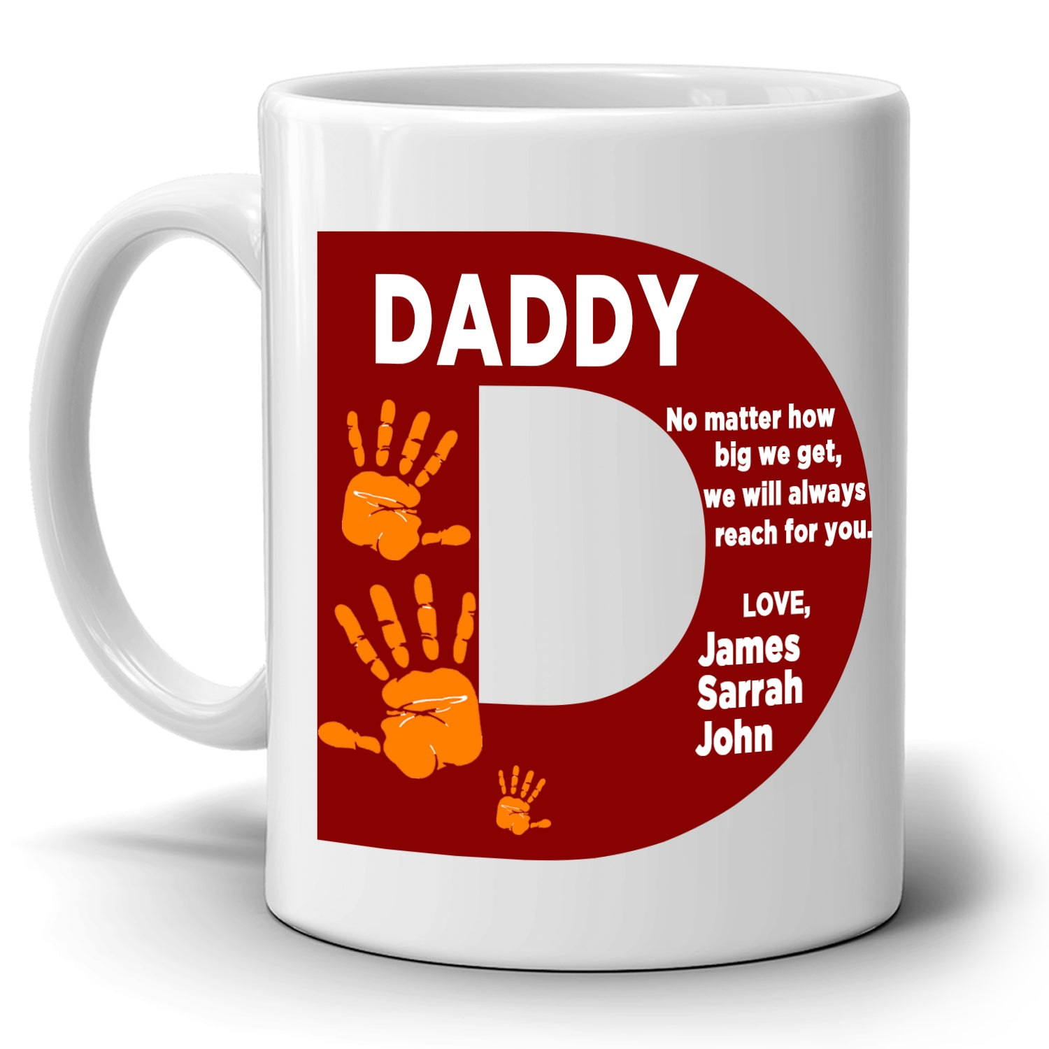personalized daughter and son fathers day gifts for daddy mug