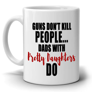 Funny Humorous Daughter Gifts for Dad Birthday Fathers Day Mug, Printed on Both Sides! - Stir Crazy Gifts