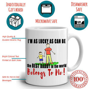 Best Daddy and Daughter Birthday Gifts Coffee Mug, Printed on Both Sides!