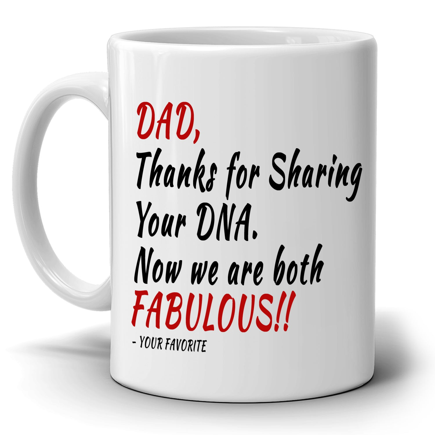Awesome Daddy Birthday Gifts Mug From Daughters And Sons Dad Thanks For Sharing Your DNA Now