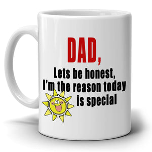 Cute Fathers Day Birthday Gift from Daughter Mug to Papa Dad Daddy, Printed on Both Sides! - Stir Crazy Gifts