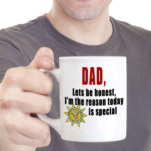 Cute Fathers Day Birthday Gift from Daughter Mug to Papa Dad Daddy, Printed on Both Sides!