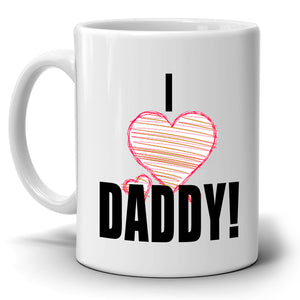 Cute Birthday and Fathers Day Gift from Daughters to Dad Mug I Love Daddy, Printed on Both Sides! - Stir Crazy Gifts