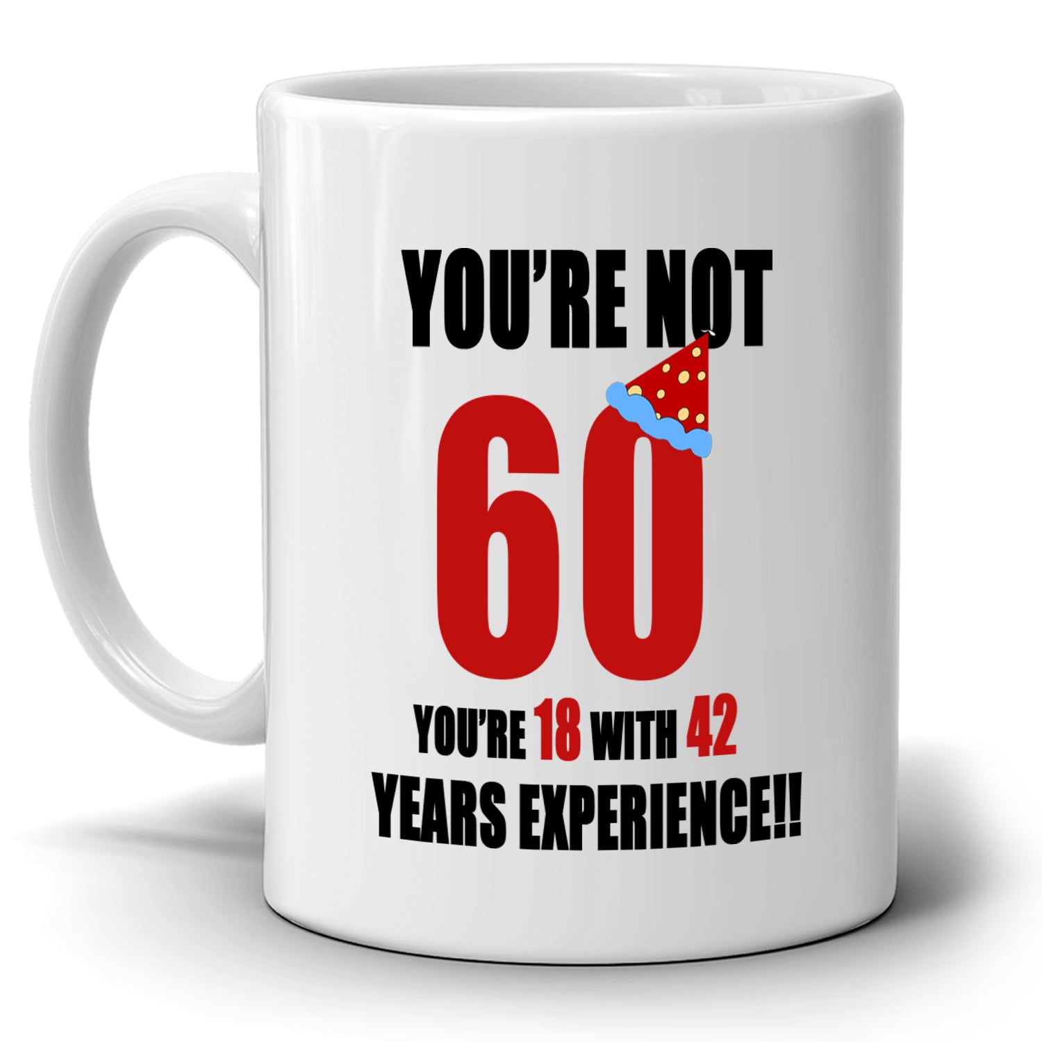 Happy 60th Birthday Gifts For Dad Papa Grandpa Coffee Mug Printed On Both Sides
