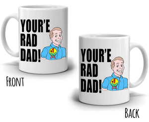 Best Daddy Gifts Mug You're Rad Dad Coffee Cup, Printed on Both Sides! - Stir Crazy Gifts