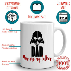 Dad You Are My Father Coffee Mug Birthday Gifts, Printed on Both Sides!