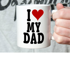 I Love My Dad Cute Christmas Fathers Day and Birthday Gifts for Papa, Printed on Both Sides! - Stir Crazy Gifts