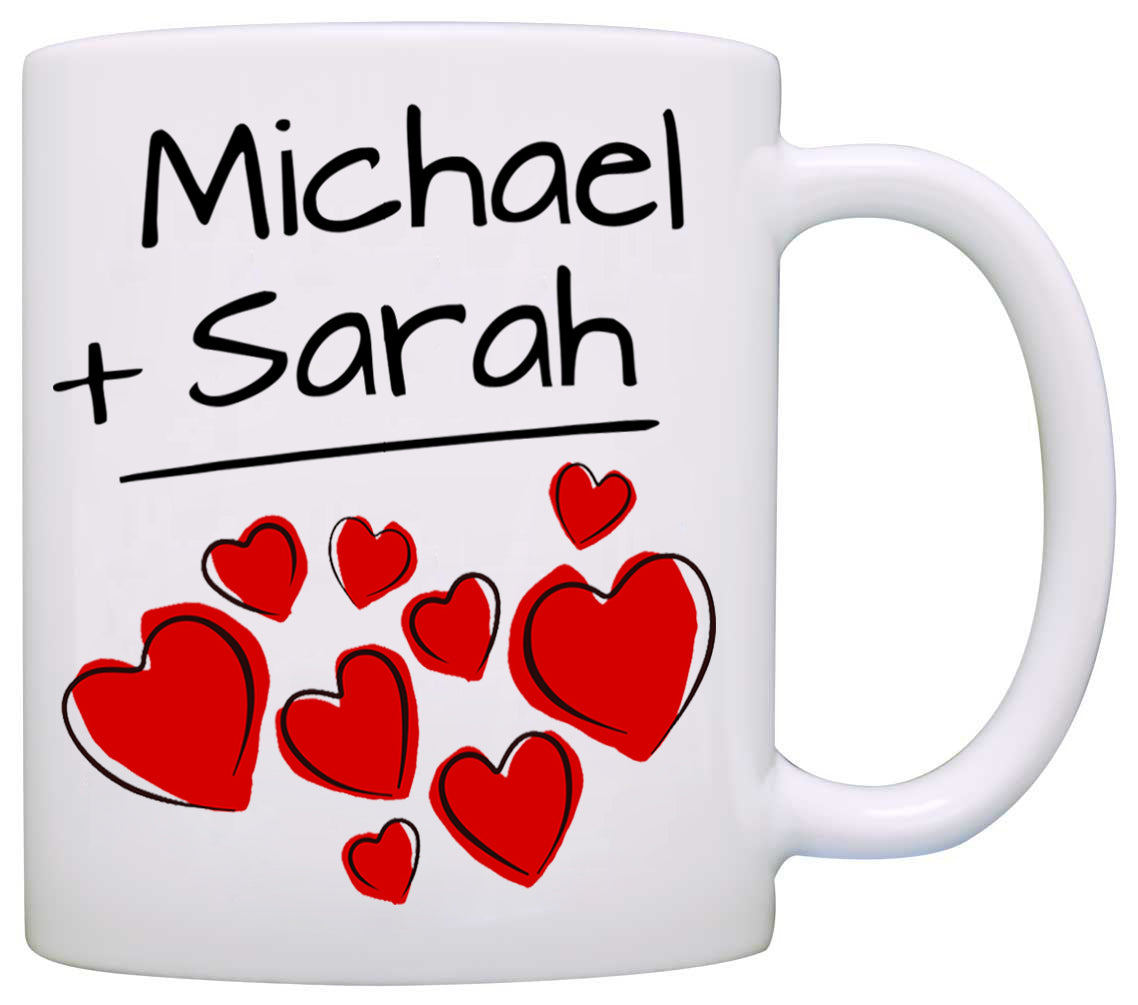 Personalized His and Her Couples Wedding Gift Mug, I love my Husband ...